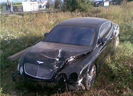 Bentley Continental GT Coupe crash