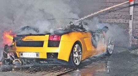 Burn Lamborghini Gallardo Spyder