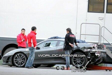 Ferrari F430 Scuderia Prototype crashed