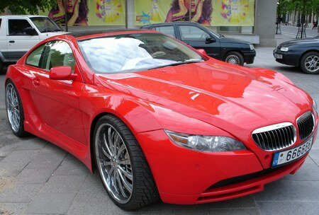 Lithuanian BMW 6-Series Red